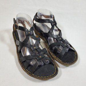 Born Black Leather Gladiator Sandals 10